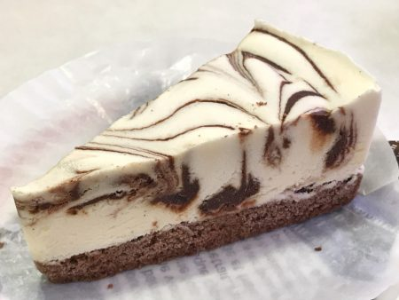 Chocolate marble ice cream cake in Hama Sushi