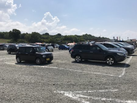 Parking lot of the main venue in Akeno Sunflower Festival