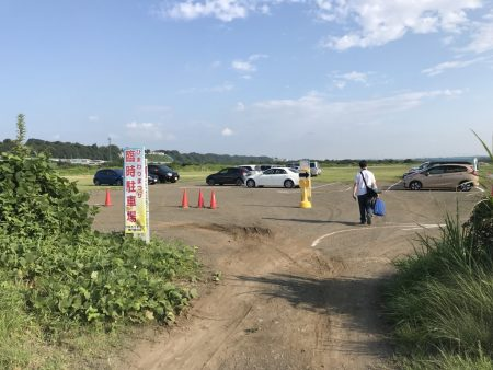 Parking lot of Zama Sunflower Festival