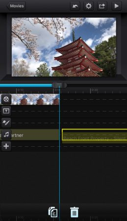 Add music by cute cut pro8