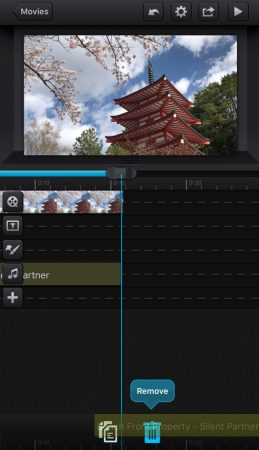 Add music by cute cut pro9