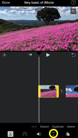 Add subtitle by iMovie for iOS1