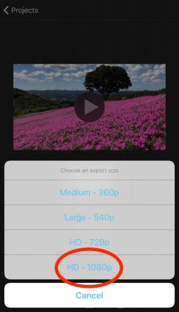 Export video by iMovie for iOS4