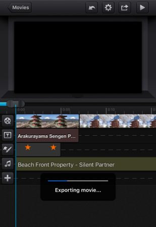 Export video by cute cut pro4