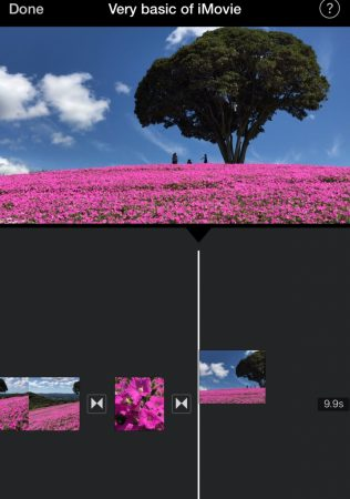 Select video by iMovie for iOS11