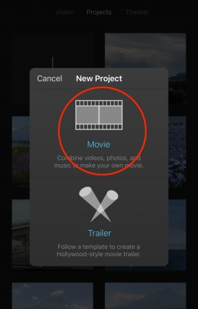 Select video by iMovie for iOS2