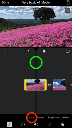 change the lengh of video by iMovie for iOS2