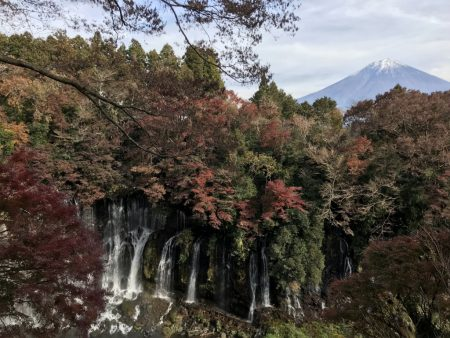Autumn leaves and Mt.Fuji at Shiraito Falls by iPhone7 Plus