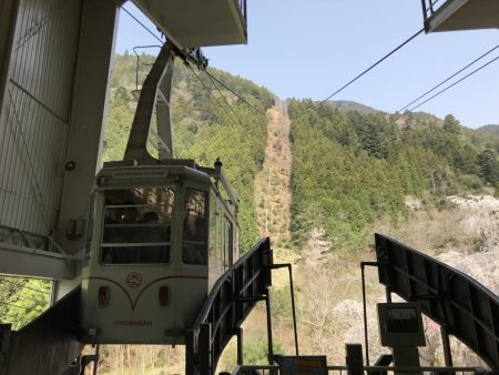Ropeway in Minobusan Kuonji Temple