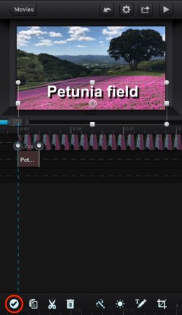 Add shadow to the text by cute cut pro8